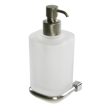 Wall Square Satin White Soap Dispenser