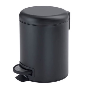 Matte Black Floor Standing Stainless Steel Waste Basket