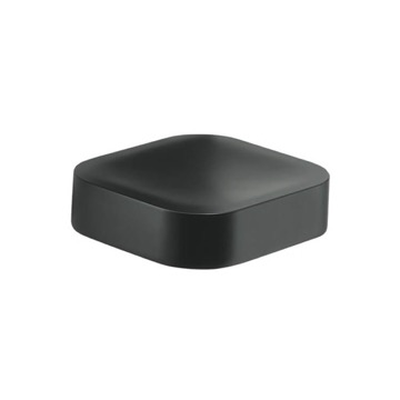 Wall Mounted Matte Black Square Soap Dish