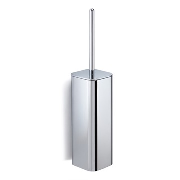 Wall Mounted Polished Chrome Toilet Brush Holder