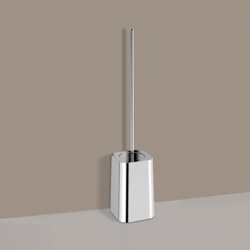 Long Handle Chrome Toilet Brush Holder