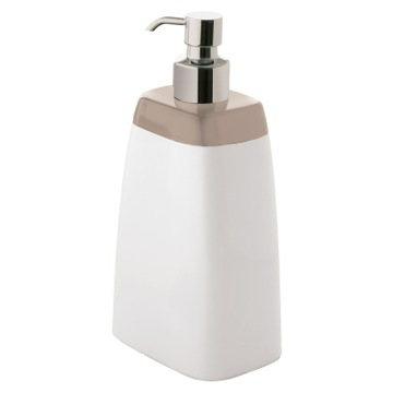 White Soap Dispenser with Grey Top