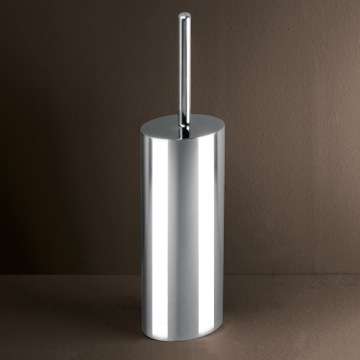 Round Chrome Toilet Brush Holder