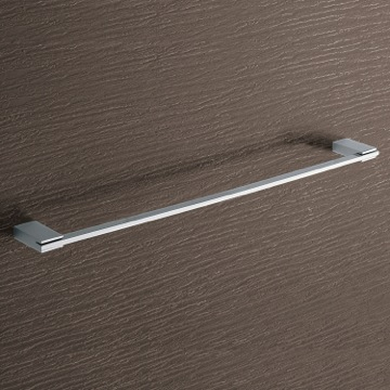 Towel Bar Square 24 Inch Polished Chrome Towel Bar 3821-60-13 Gedy 3821-60-13