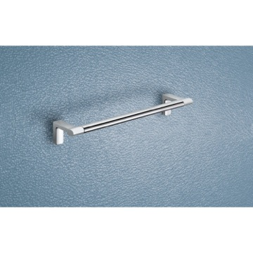 Two Tone Chrome 12 Inch Towel Bar