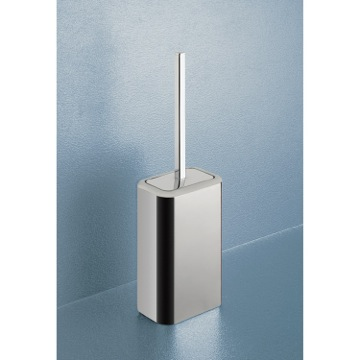 Toilet Brush Modern Two Tone Chrome Toilet Brush Holder 4333-21 Gedy 4333-21