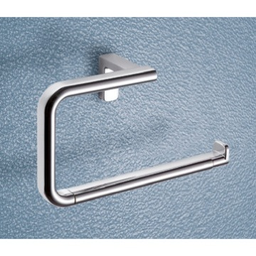 Towel Ring Square Polished Chrome Towel Ring 4370-13 Gedy 4370-13