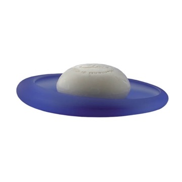 Round Blue Glass Soap Holder