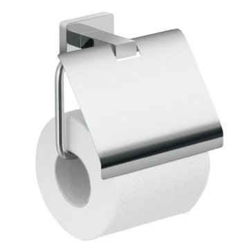 Wall Mounted Chrome Toilet Paper Holder With Cover