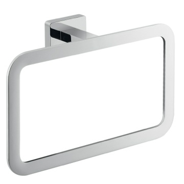 Square Wall Mounted Polished Chrome Towel Ring 4470-13