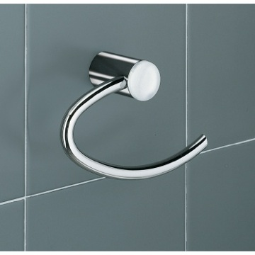 Toilet Paper Holder, Contemporary, White, Brass, Gedy Aura, Gedy 4624-02
