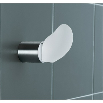 White and Chrome Wall Mounted Hook