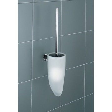 Wall Mounted White Toilet Brush Holder