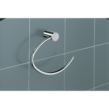 White Wall Mounted Towel Ring