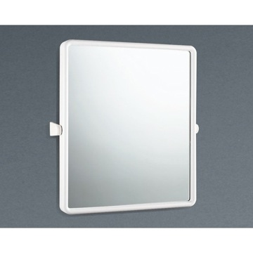 Vanity Mirror Pivoting Mirror Made From Thermoplastic Resins In White Finish 4800-02 Gedy 4800-02