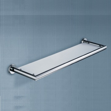 Bathroom Shelf Frosted Glass Bathroom Shelf With Chrome Frame 5119-60-13 Gedy 5119-60-13