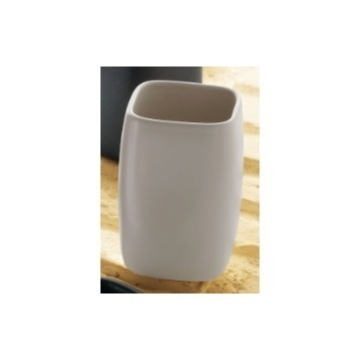 Beige Pottery Toothbrush Holder