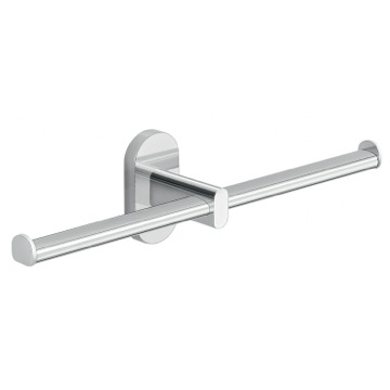 Wall Mounted Chrome Double Toilet Paper Holder