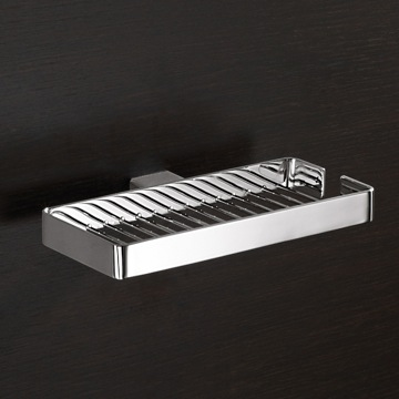 Wall Mounted Square Chrome Wire Double Soap Holder 5418-13