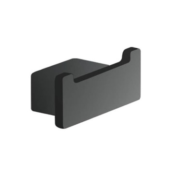 Square Matte Black Double Hook