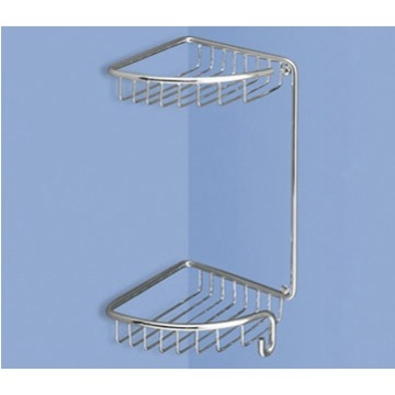 Shower Basket Wire Corner Double Shower Basket 5681-13 Gedy 5681