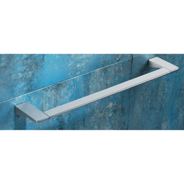 Square 24 Inch Polished Chrome Towel Bar