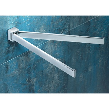 12 Inch Polished Chrome Double Swivel Towel Bar
