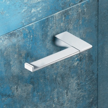 Square Polished Chrome Toilet Roll Holder 5724-13