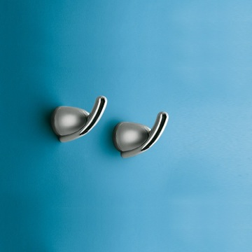 2 Chrome Wall Mounted Single Hook(s)