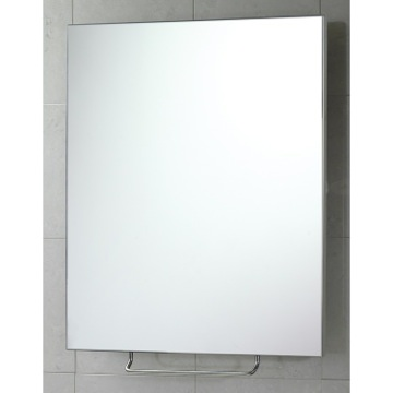 Vanity Mirror Rectangular Shatterproof Stainless Steel Sheet Tilting Mirror 6008-13 Gedy 6008-13