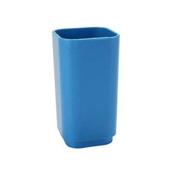 Contemporary Blue Resin Toothbrush Tumbler