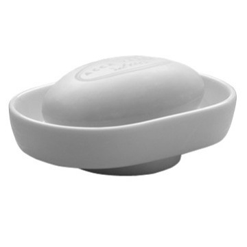 Countertop White Porcelain Soap Dish