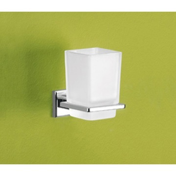 Wall Mounted Frosted Glass Toothbrush Holder