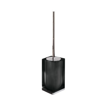 Black Modern Square Toilet Brush Holder