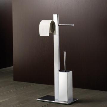 Gedy 7632 13 bathroom butler bridge nameek 39 s for Bathroom butler toilet paper holder