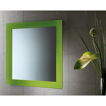 Vanity Mirror Green Mirror With Lacquered Frame 7800-04 Gedy 7800-04