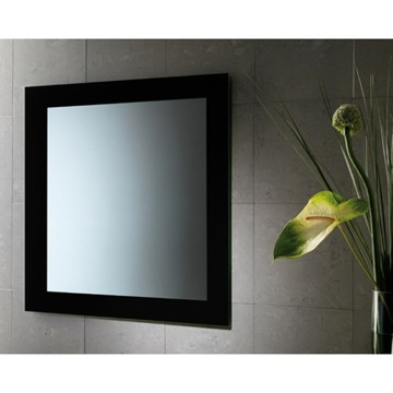 Vanity Mirror Black Vertical or Horizontal Mirror With Frame 7800-14 Gedy 7800-14
