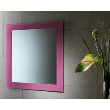 Vanity Mirror Vertical or Horizontal Mirror With Pink Frame 7800-76 Gedy 7800-76
