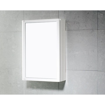 Medicine Cabinet White Cabinet with Door Made of Thermoplastic Resins 8006-02 Gedy 8006-02