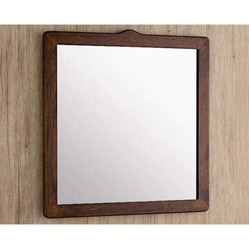 Vanity Mirror Old Walnut Colored Wooden Framed Mirror 8100-95 Gedy 8100-95