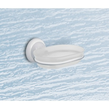 Thermoplastic Resin Soap Holder with White Mounting