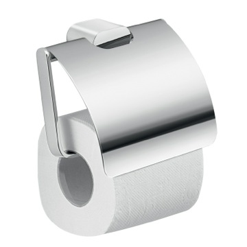Modern Brass and Cromall Square Toilet Paper Holder with Cover