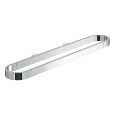 Oval Shaped Chrome Towel Rail or Accessory Holder