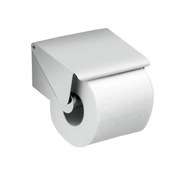 Chrome Square Toilet Paper Roll Holder with Cover