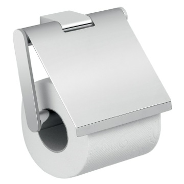 Square Wall Mounted Chrome Toilet Paper Holder with Cover