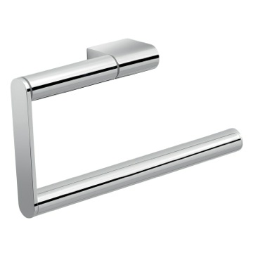 Stylish Contemporary Polished Chrome Towel Ring
