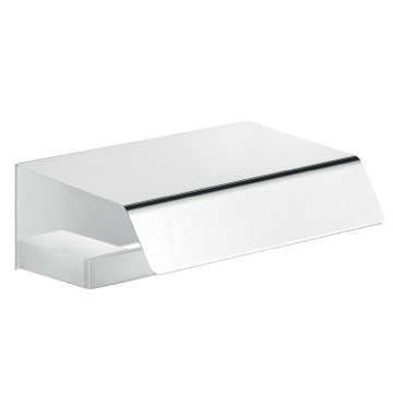 Chrome Toilet Roll Holder with Cover