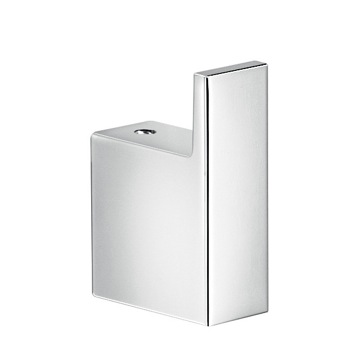 Square Polished Chrome Bathroom Towel Hook