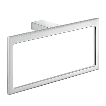 Rectangular Wall Mounted Polished ChromeTowel Ring