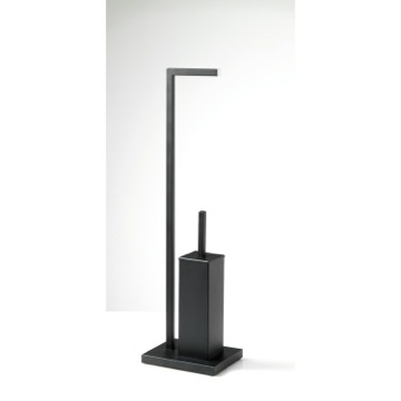 Bathroom Butler, Contemporary, Matte Black, Brass, Gedy Astro, Gedy AS32-M4